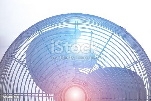 istock Metal ventilation fan 830381526
