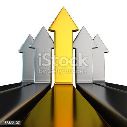 istock Metal vertical arrows 167322107