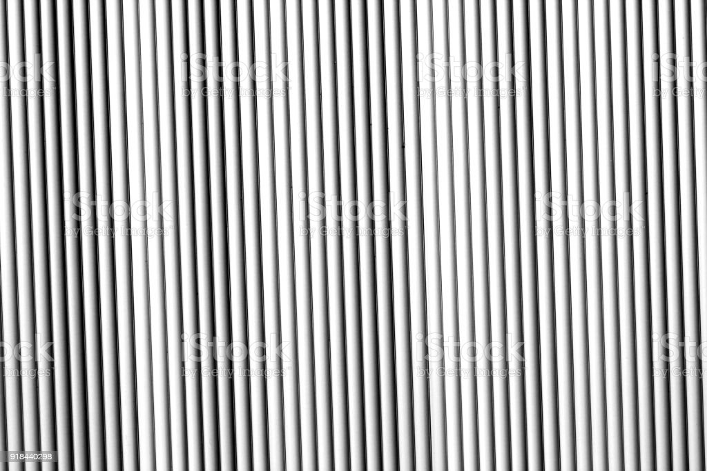Metal wall texture in black and white. stock photo