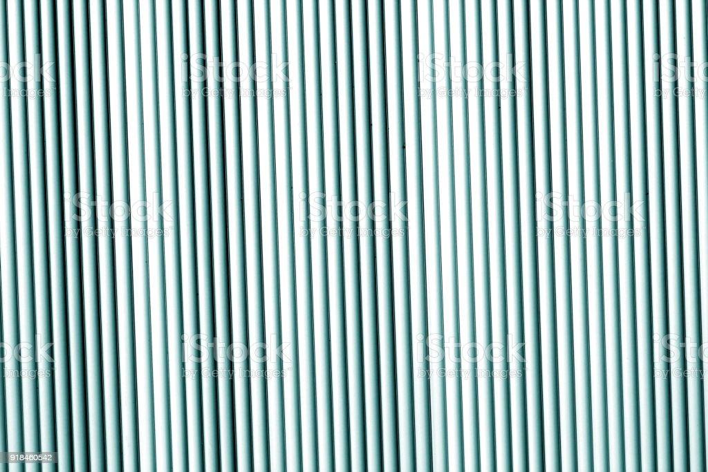 Metal wall texture in cyan tone. stock photo