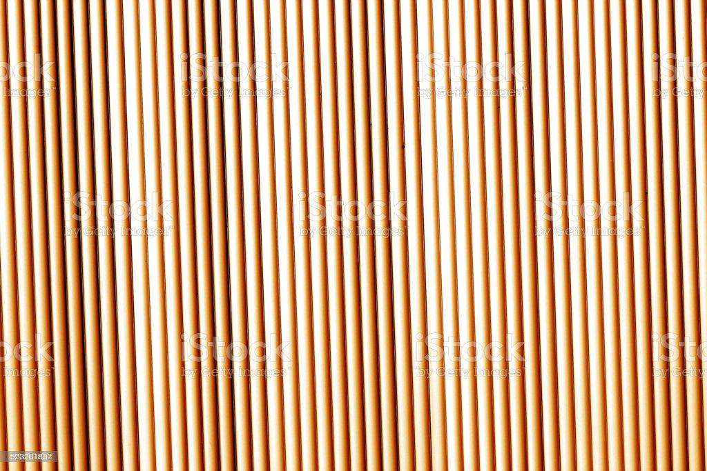Metal wall texture in orange tone. stock photo