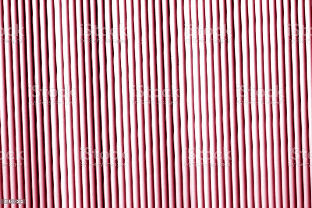 Metal wall texture in red tone. stock photo