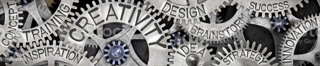 Metallrad-Konzept - Lizenzfrei Berufliche Partnerschaft Stock-Foto