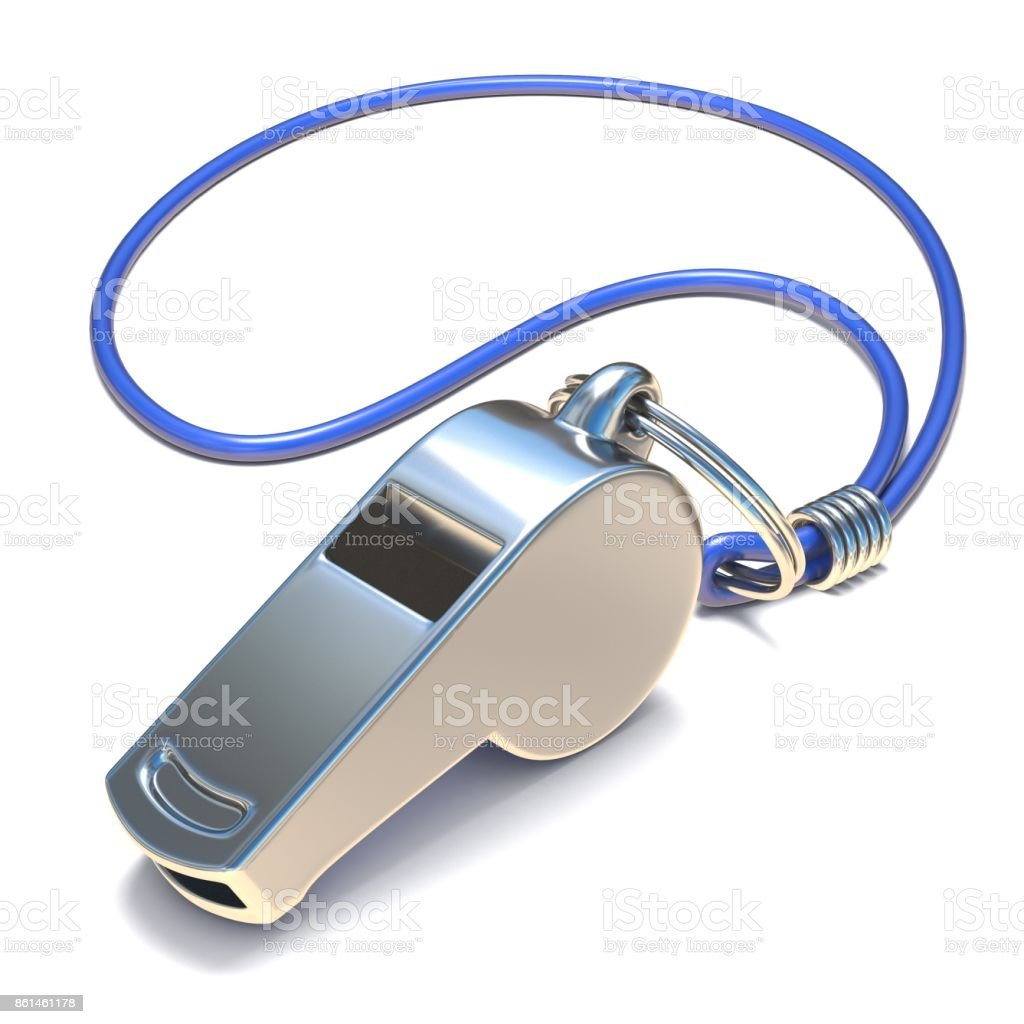 Metal whistle 3D royalty-free stock photo