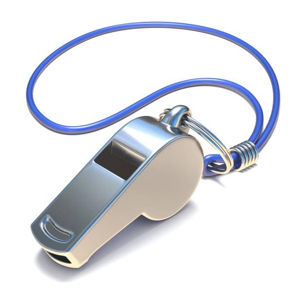 Metal whistle 3D stock photo