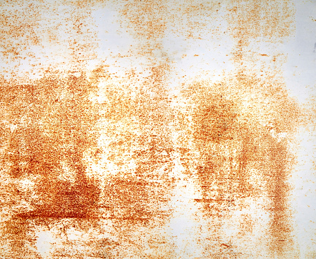 Rusty grunge painted white metal wall background. photomerge
