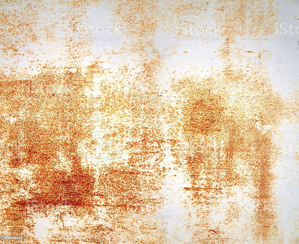 Metal white painted rusty textured wall stock photo