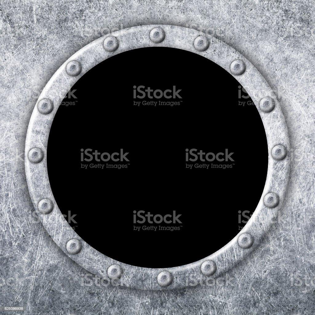 Metal Window Frame For Design Ship Porthole 3d Illustration Stock ...