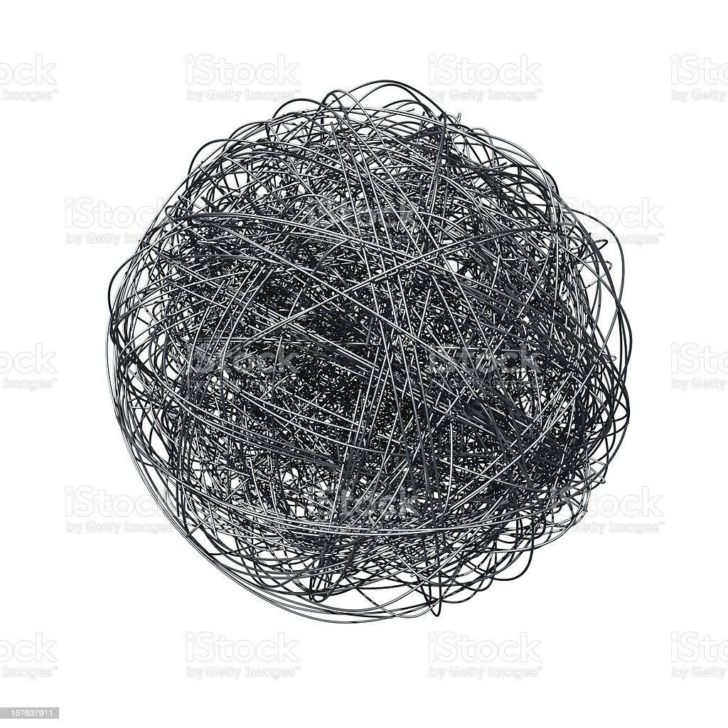 Metal wire ball stock photo