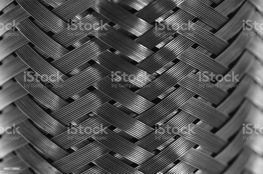 Metal wire braiding. stock photo