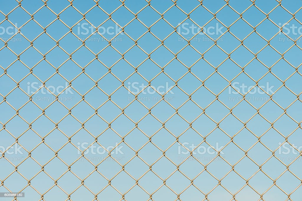 Metal wire fence protection chainlink background stock photo
