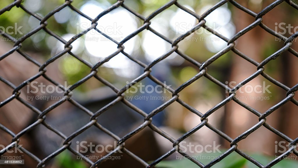 metal wired caged stock photo