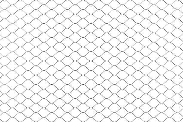 metall verdrahtet zaun muster. 3d rendering - fliesen verlegen stock-fotos und bilder
