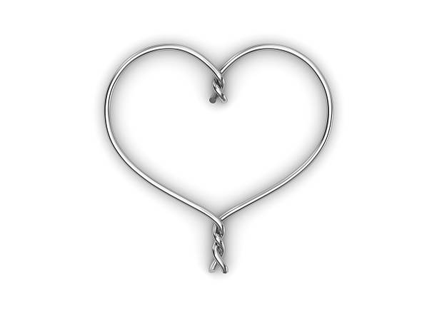 Metal wired heart stock photo