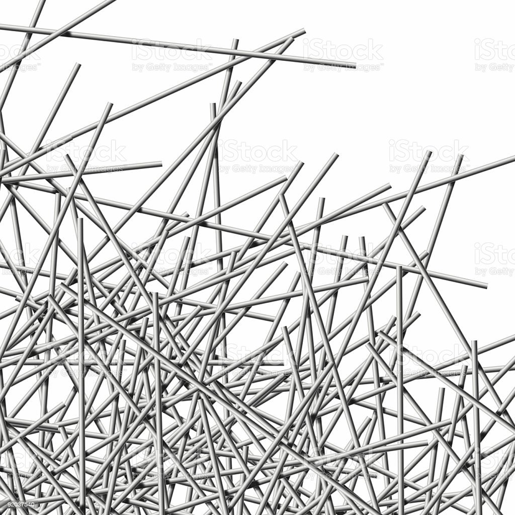 Metal Wires, crisscross royalty-free stock photo