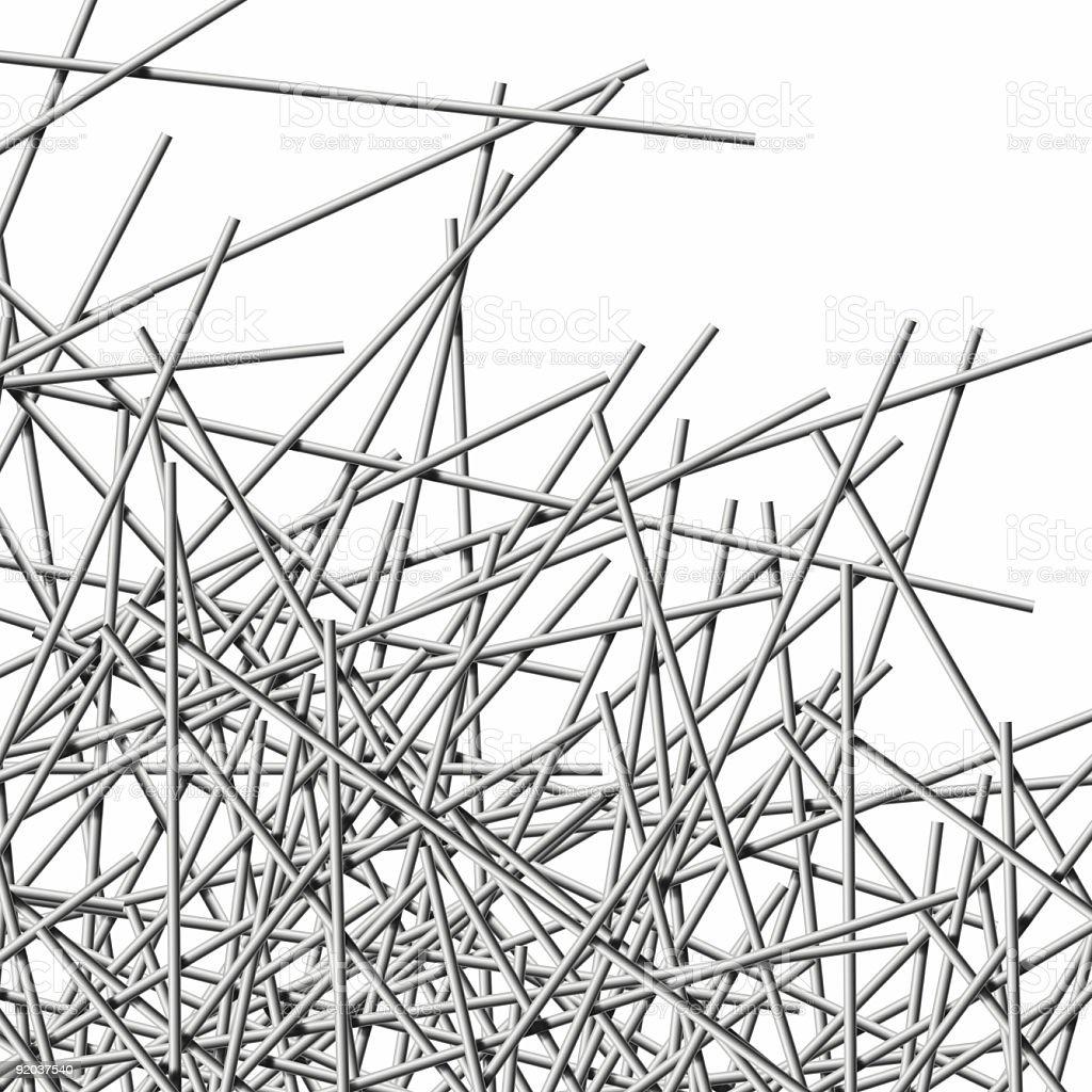 Metal Wires, crisscross stock photo