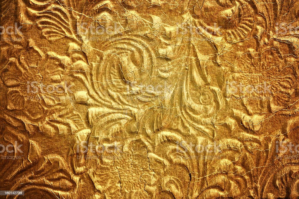 Metal with floral pattern royalty-free stock photo