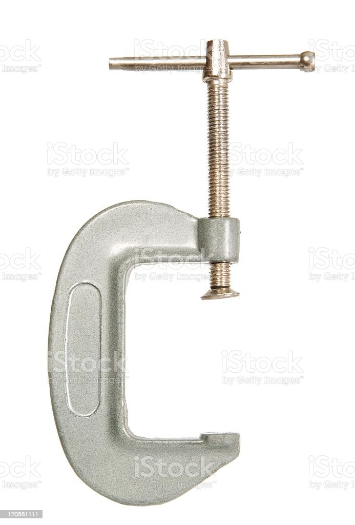 Metal work tool with thread royalty-free stock photo