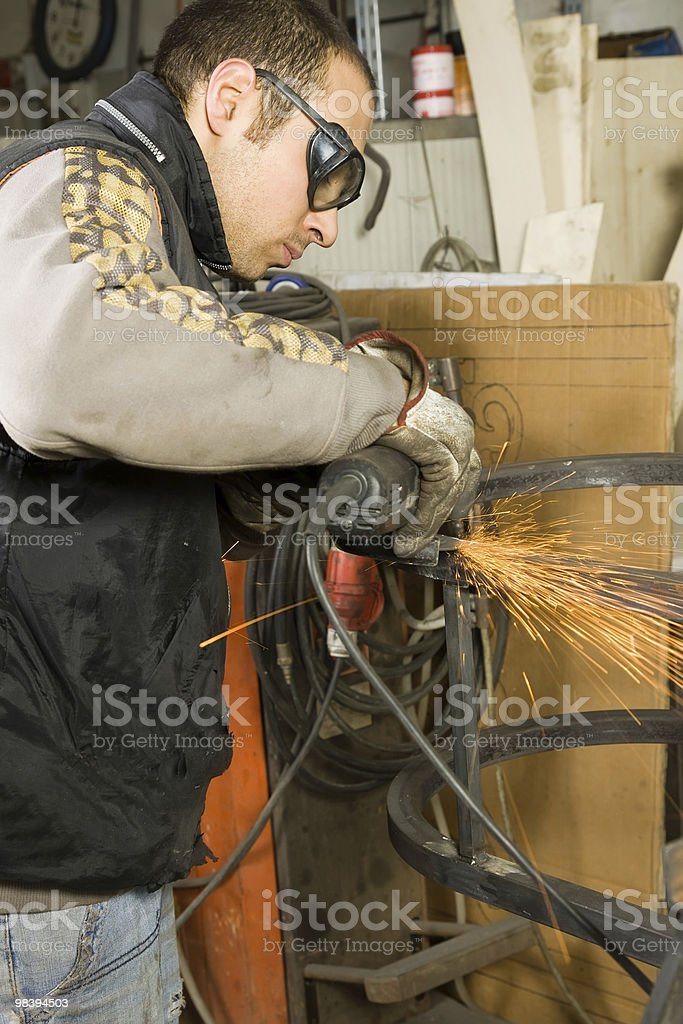 metal worker royalty-free stock photo