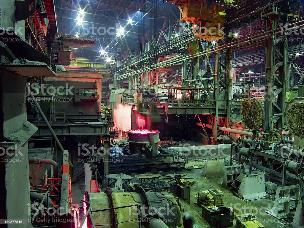 Metal Works Factory royalty-free stock photo
