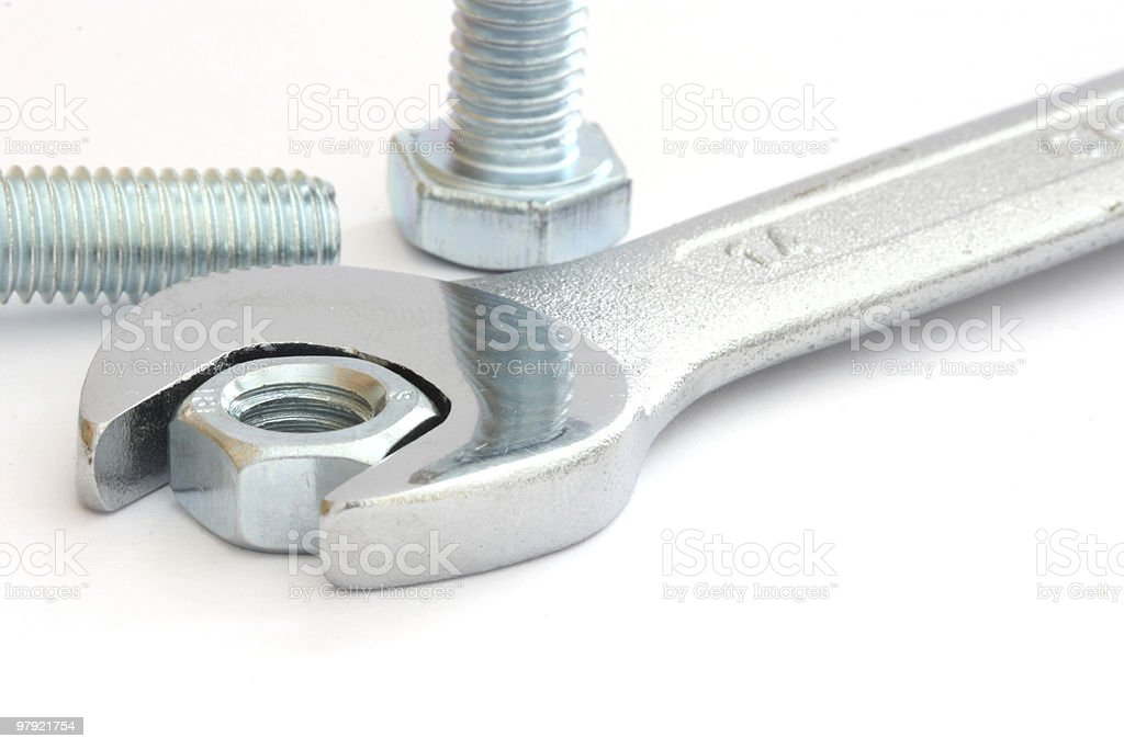 Metal wrench royalty-free stock photo