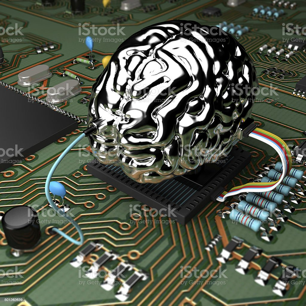 MetalBrain chip stock photo