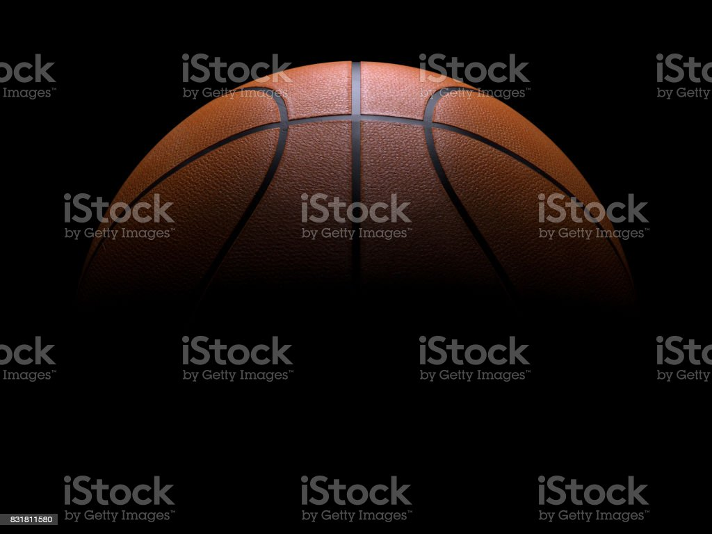 Metalic Basketball close-up on studio background stock photo