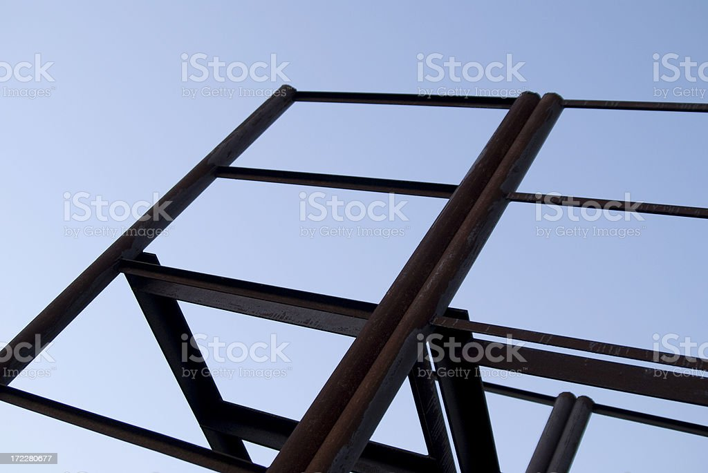 Metall Construction With Blue Sky royalty-free stock photo