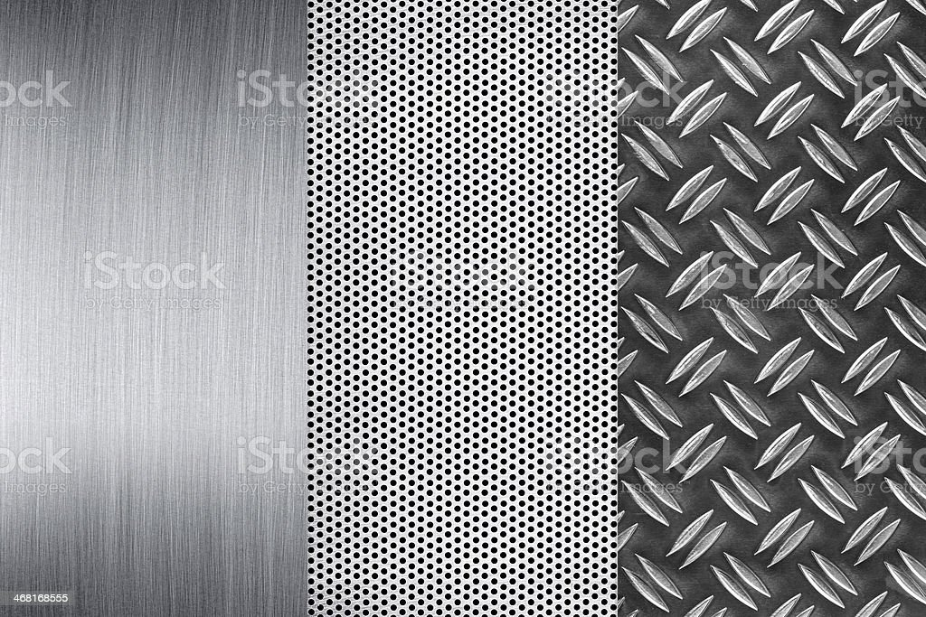 metall plates stock photo