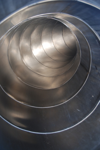 Metall Tube Vertical Curve Stock Photo - Download Image Now