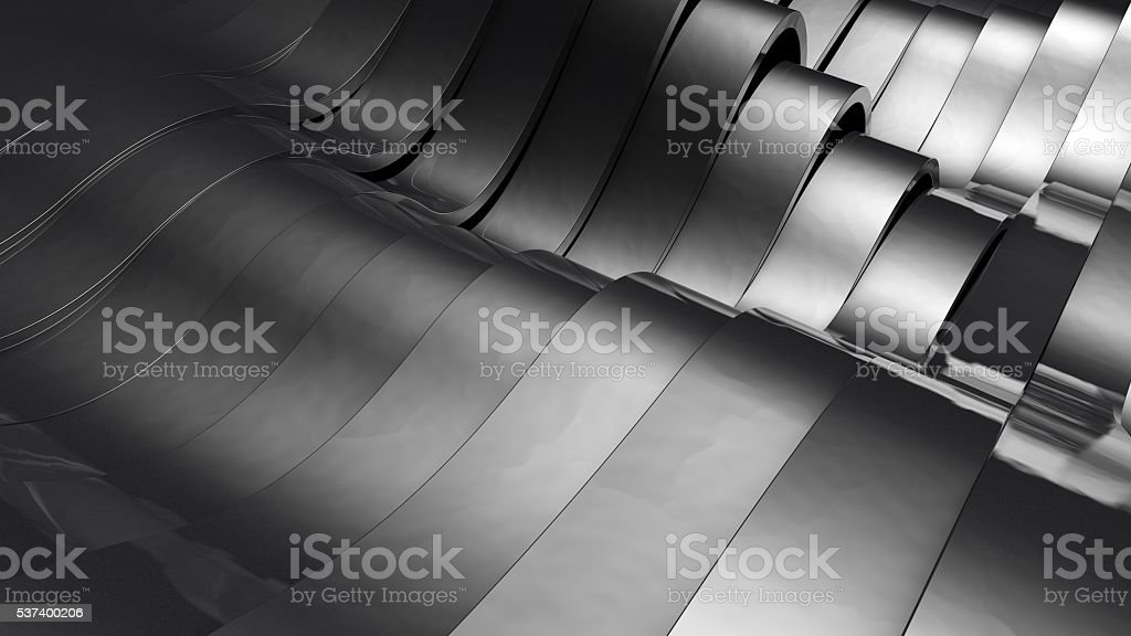 Metallic and wavy stripes stock photo