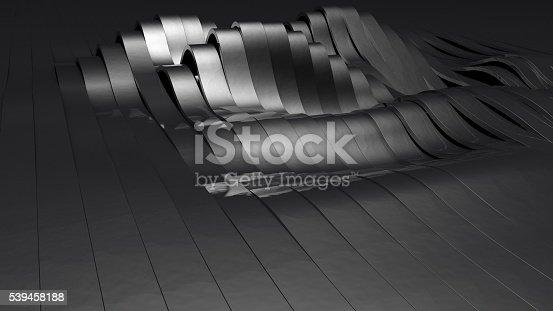istock Metallic and wavy stripes 539458188