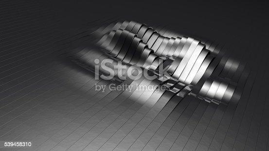 istock Metallic and wavy stripes 539458310