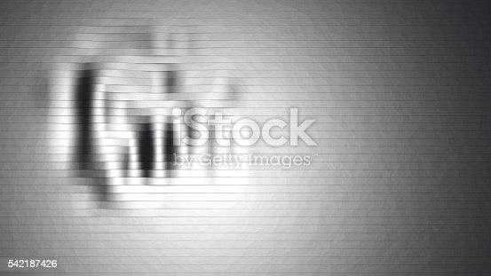 istock Metallic and wavy stripes 542187426