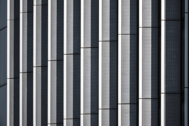 Metallic architecture abstract pattern and texture stock photo