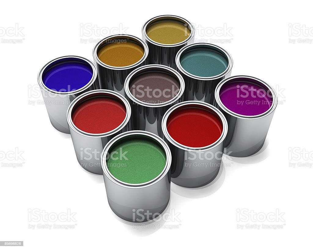 Metallic Automotive Paints royalty free stockfoto