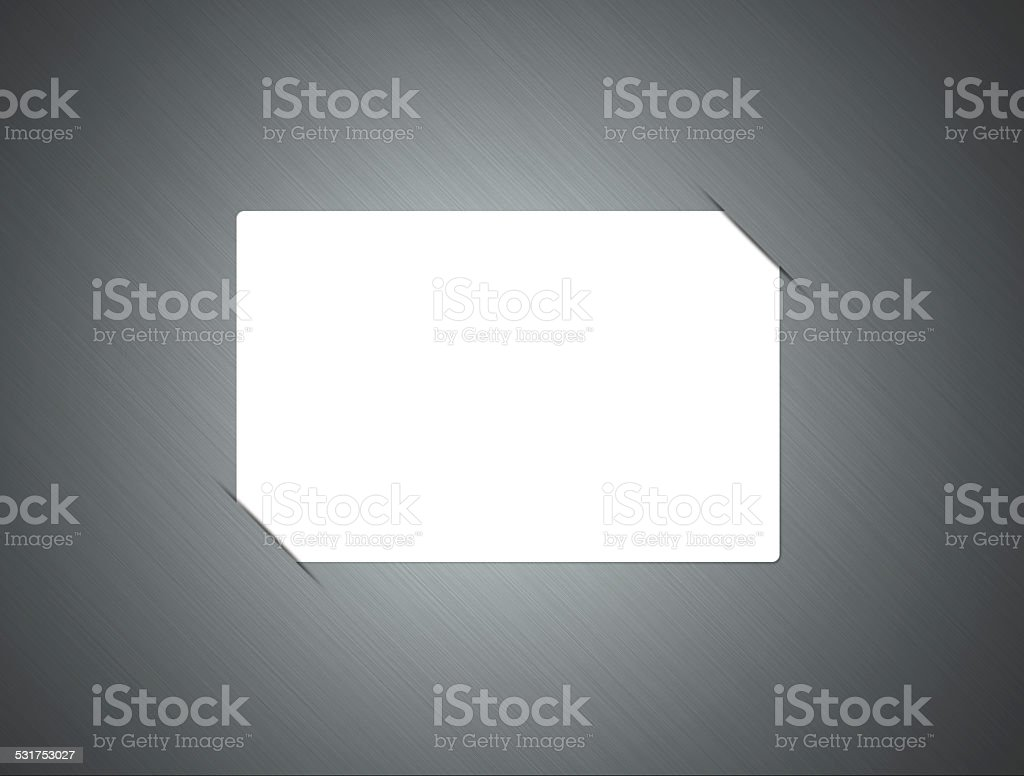 Metallic Background with card stock photo