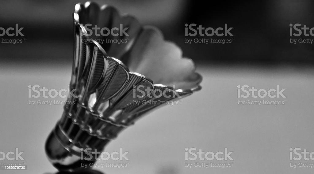 A metallic badminton corks unique photo stock photo