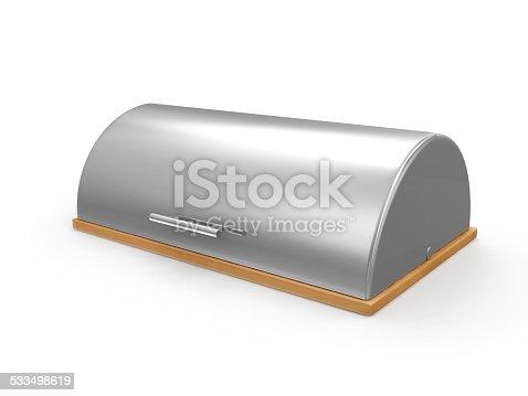 istock Metallic Breadbasket isolated on white background 533498619