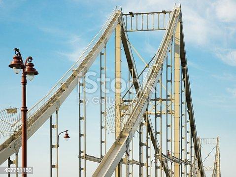 826748544 istock photo Metallic bridge spans 497781180