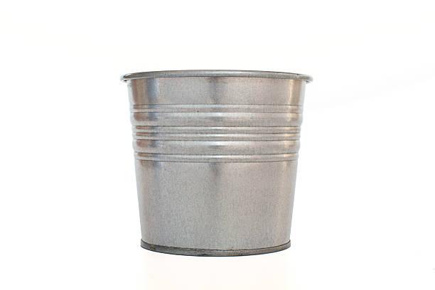 Metallic bucket. Metallic bucket. Isolated on white background bucket stock pictures, royalty-free photos & images