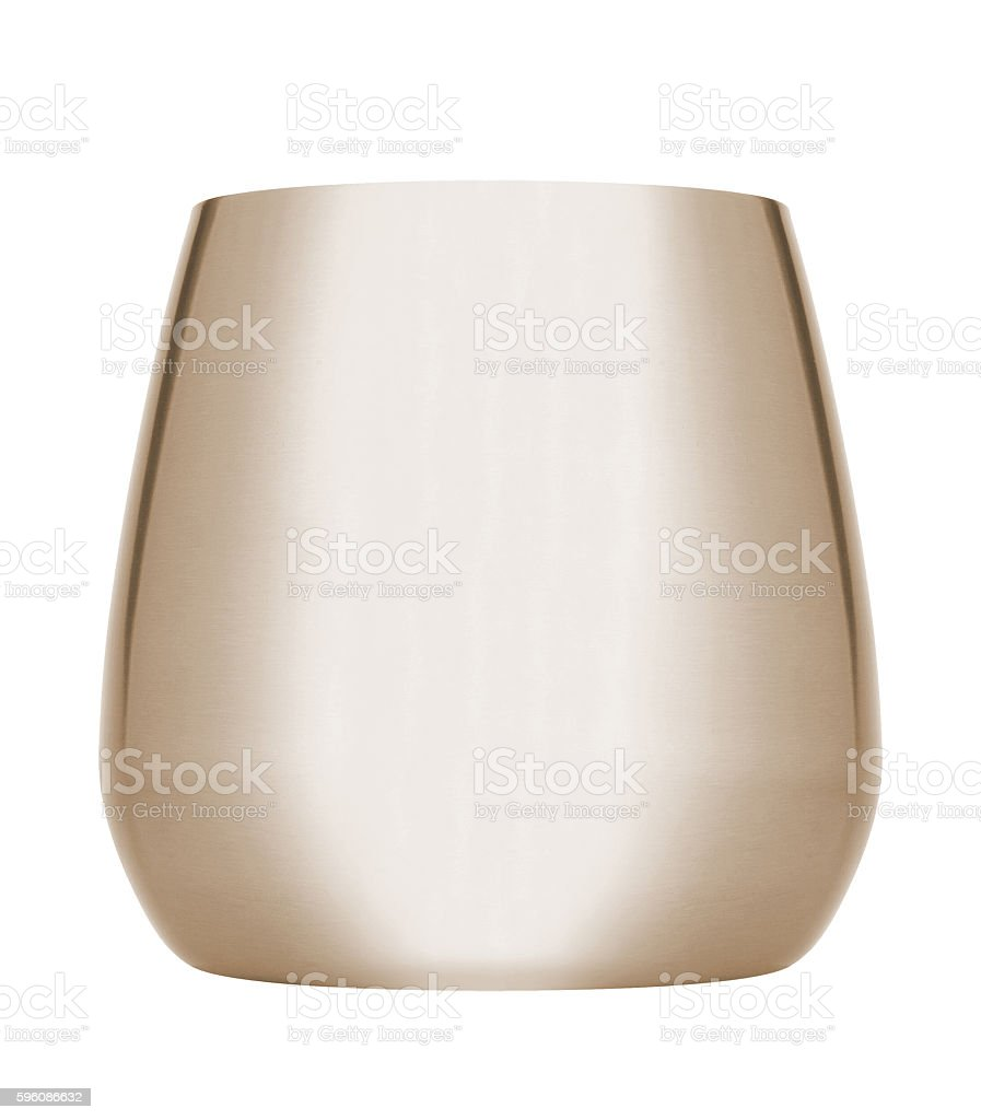 Metallic bucket royalty-free stock photo