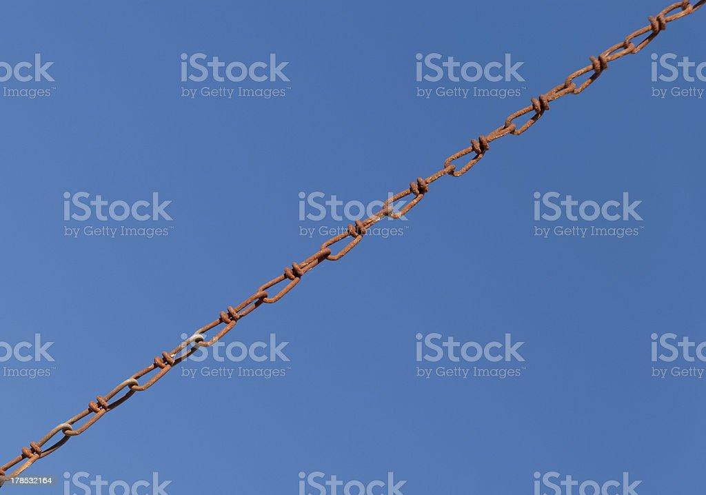 Metallic chain royalty-free stock photo