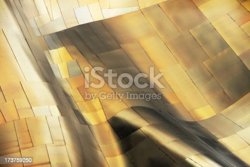 istock Metallic Copper Wave Abstract 173759250