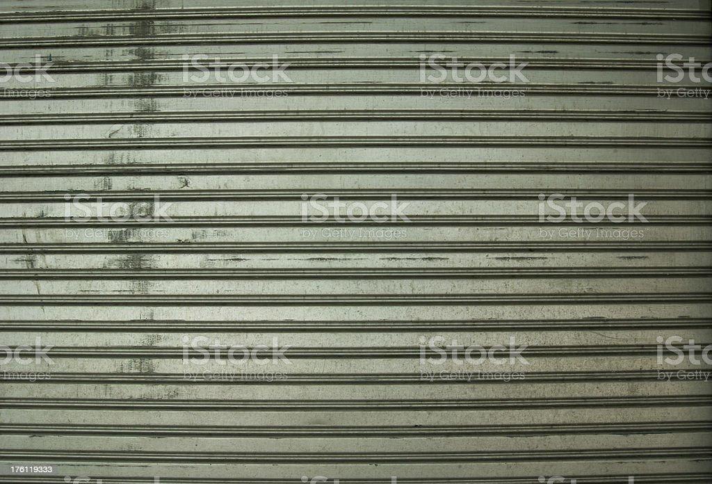 Metallic corrugated curtain background royalty-free stock photo