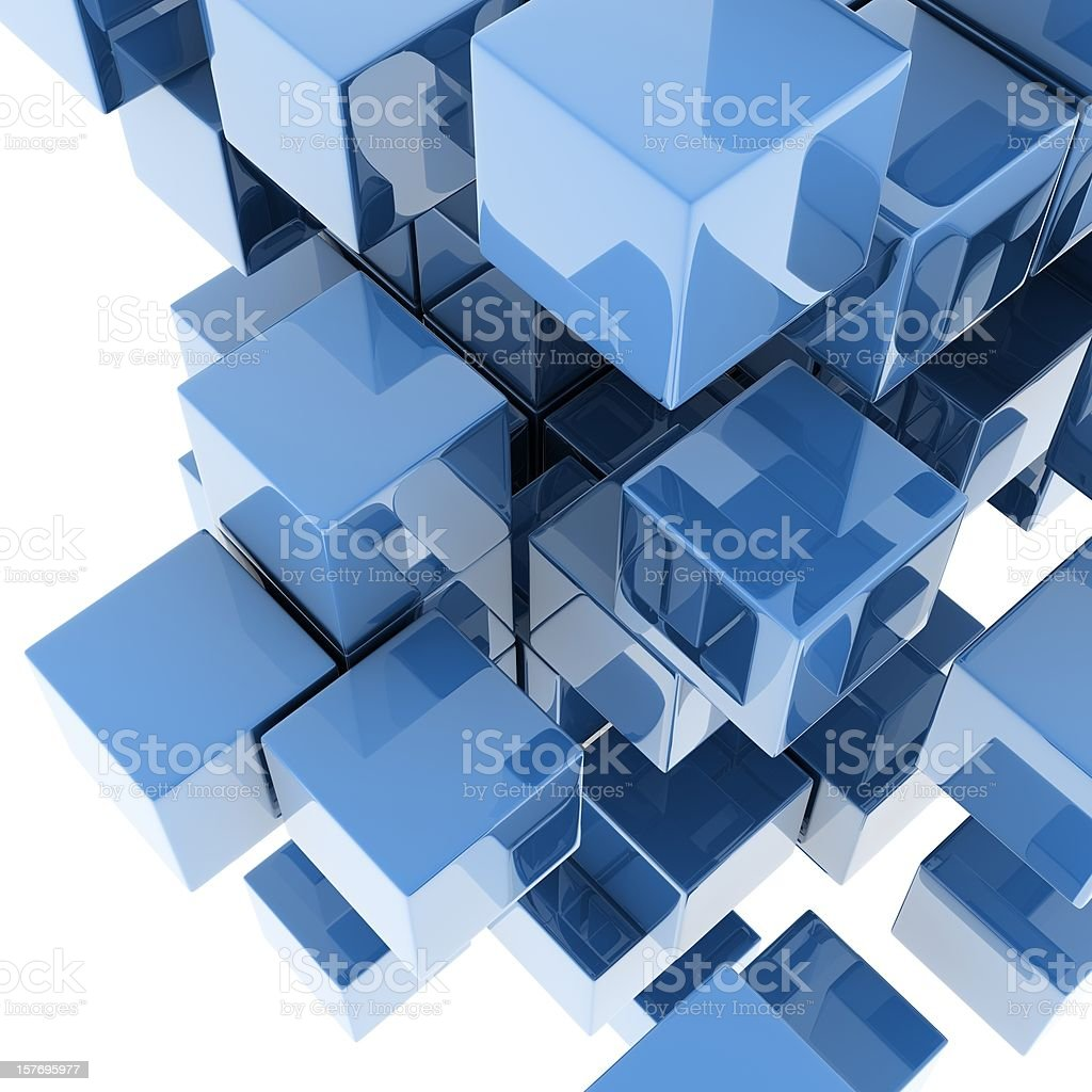 metallic cubes royalty-free stock photo