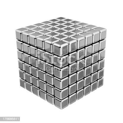 453066423 istock photo 3D Metallic Cubes 175685511