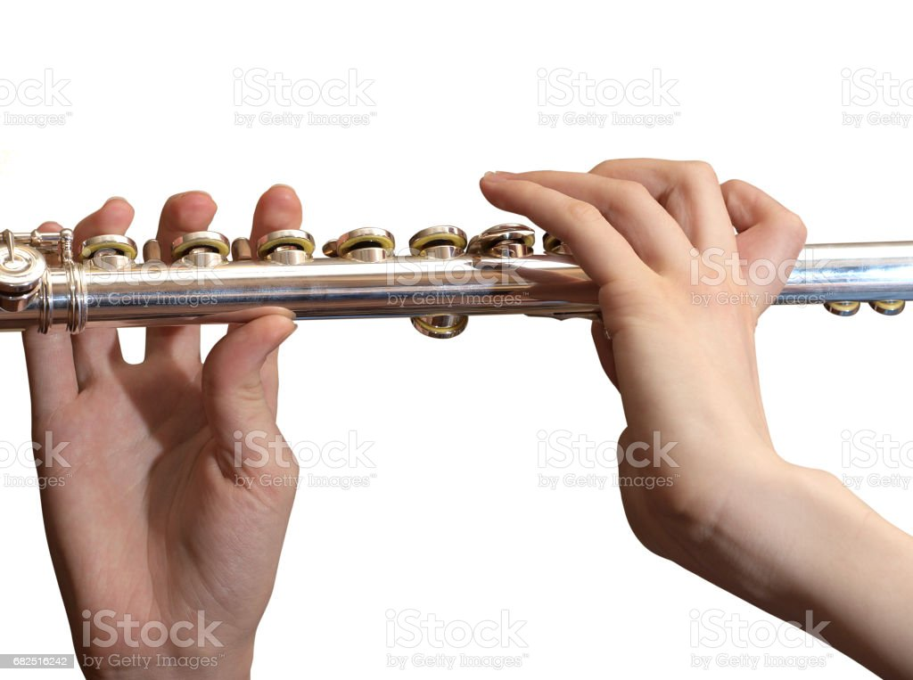 Metallic flute royalty-free stock photo