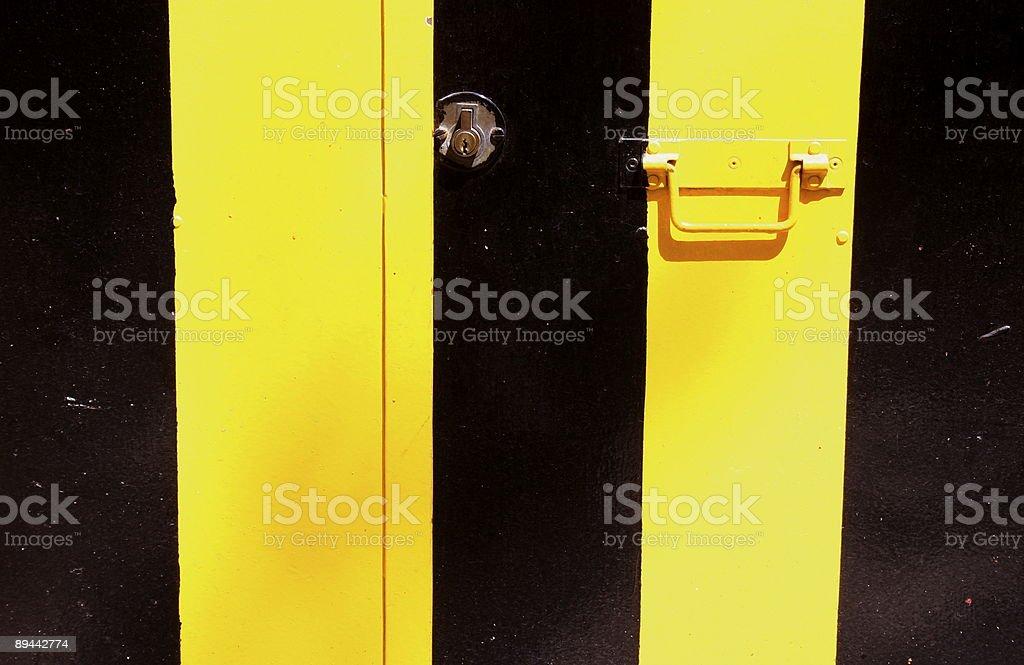 metallic Porta garage foto stock royalty-free