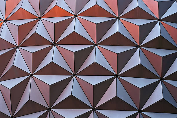 metallic geometric surface stock photo